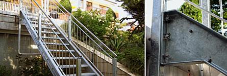 metallarbeiten treppen aus metall wohnungsbau terrassentreppe. Black Bedroom Furniture Sets. Home Design Ideas